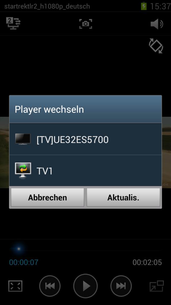 MHL-Kabel - Fernseher gefunden