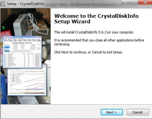 CrystalDiskInfo | Installation starten