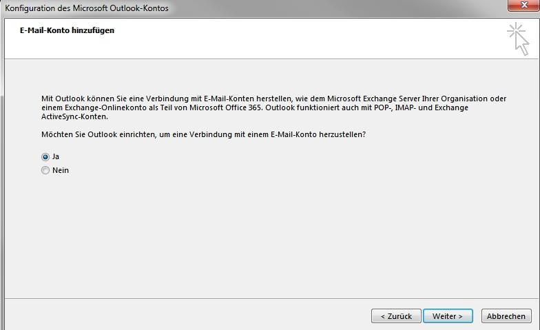 Outlook 2013 - E-Mail einrichten