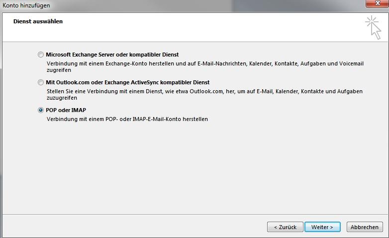 Outlook 2013 - POP oder IMAP