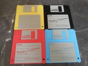 Diskette Untersetzer | bunt gemischt