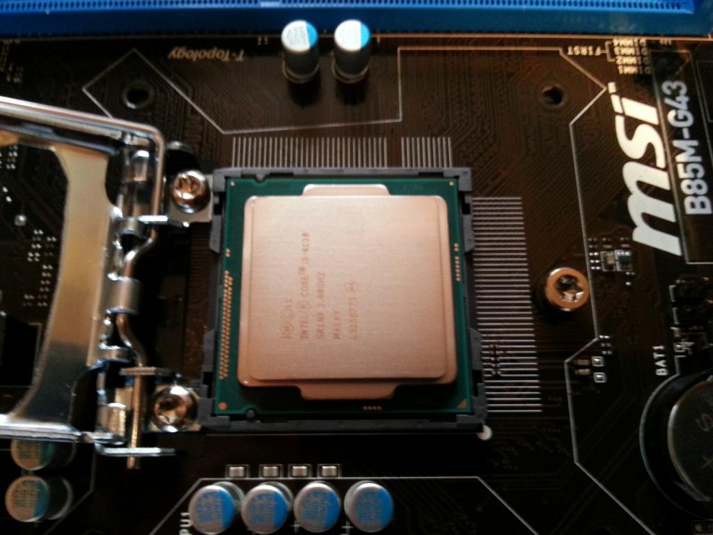 Haswell PC selber bauen   Prozessor in Sockel