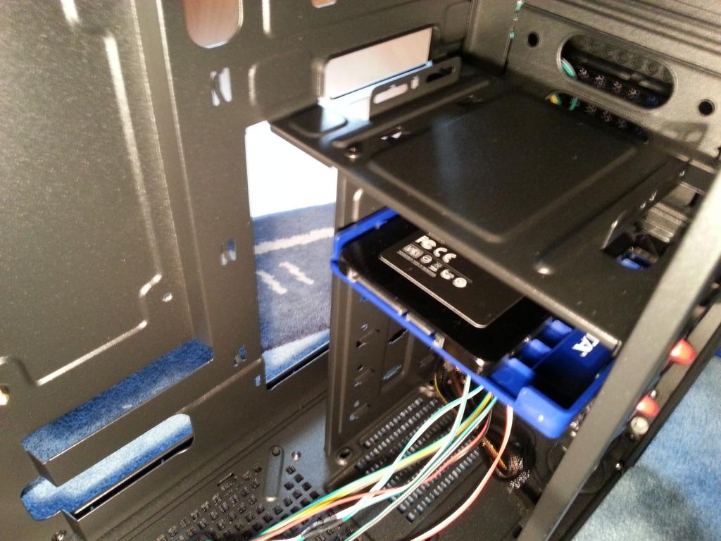Haswell PC selber bauen   SSD eingebaut