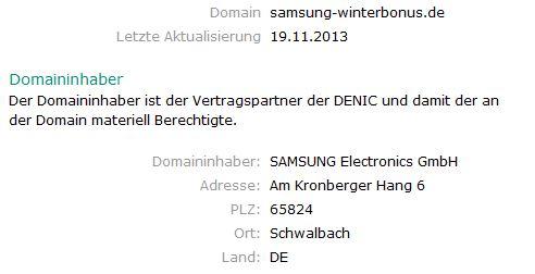 Samsung Winterbonus