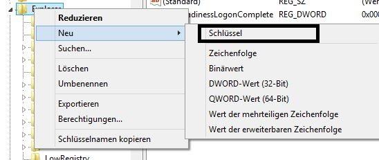 Windows 8.1 Autostart | Schlüssel erzeugen