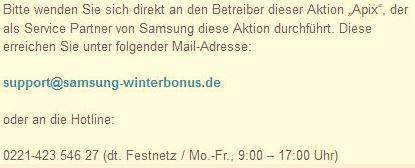 Samsung Winterbonus bestätigt