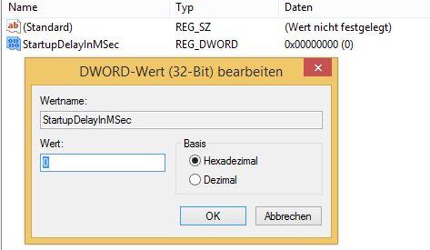 Windows 8.1 Autostart | Wertname eintragen