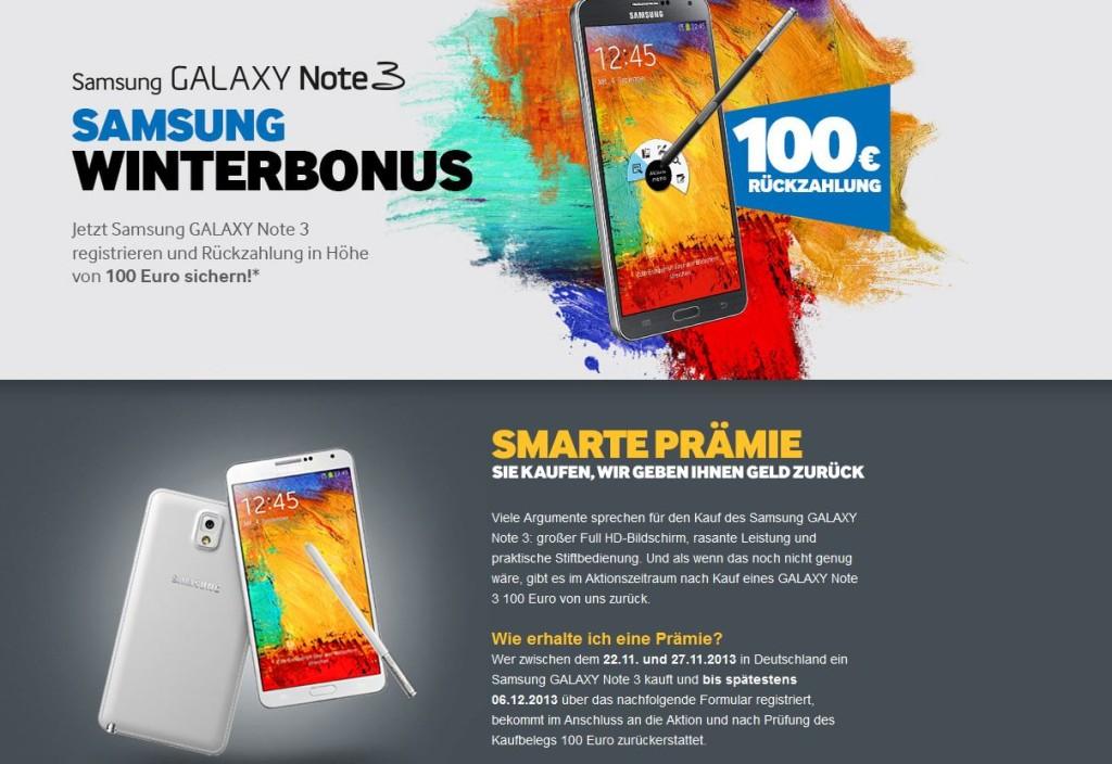 Samsung Winterbonus online