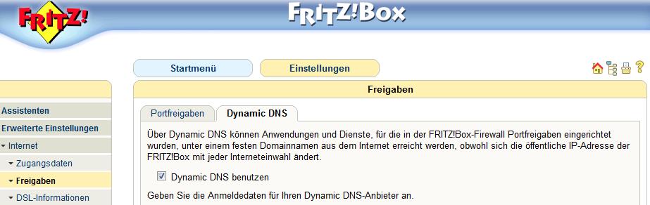 Dynamic DNS aktivieren