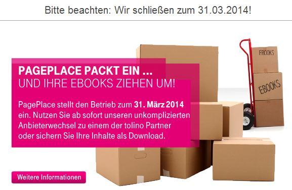 Mitteilung auf PagePlace | Quelle: PagePlace.de