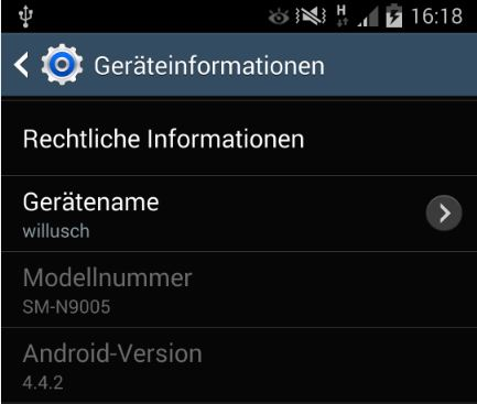 Android Kitkat | Note 3 aktuallisiert
