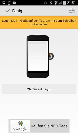 NFC-Tags - App Trigger Tag beschreiben