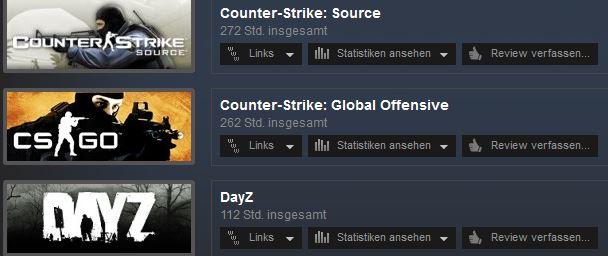 Steam Statistik | am meisten gespielt