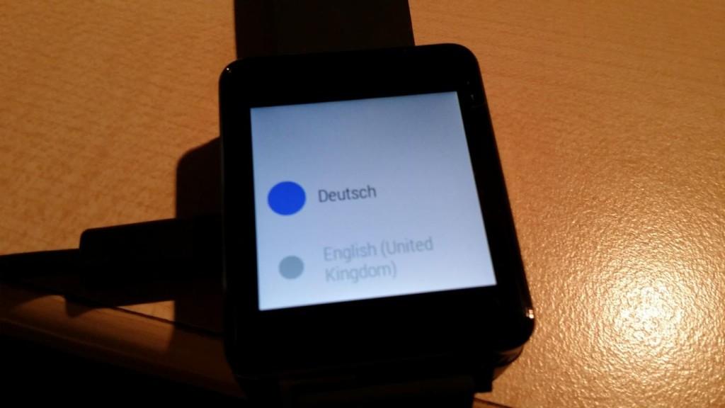 LG G Watch   Startbildschirm