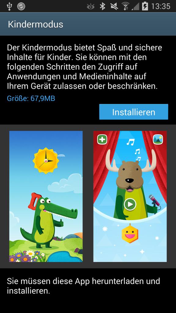 Samsung Galaxy Note 3 Update | Kindermodus