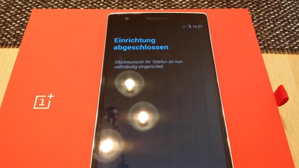 OnePlus One   Ersteinrichtung abgeschlossen