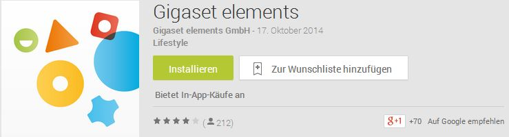 Gigaset elements Safety Starter Kit   App für Android und iOS