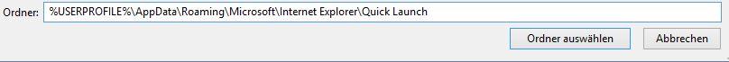 Windows 10 Schnellstartleiste einbinden | Kopieren