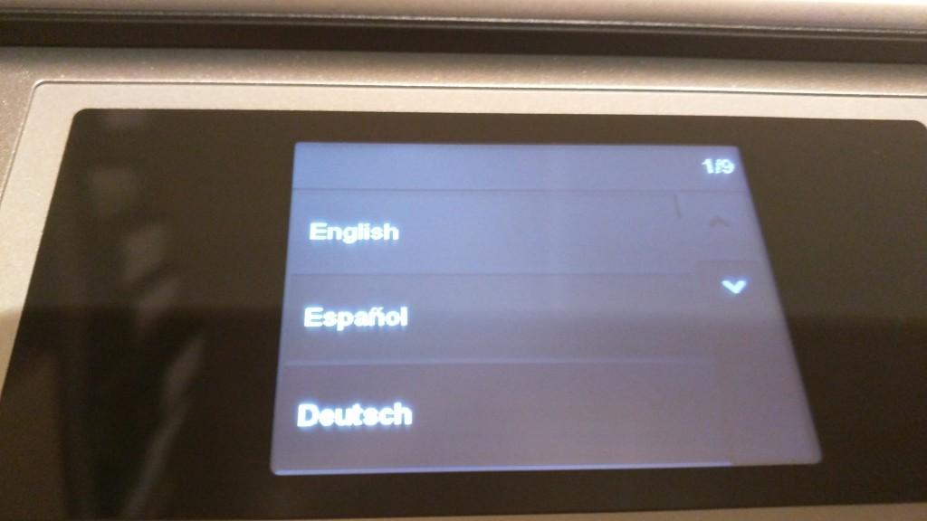 HP ENVY 5530 | Touchdisplay
