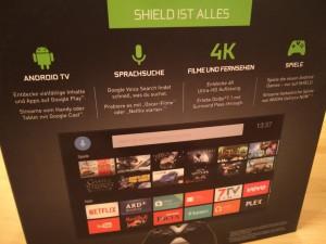 Nvidia Shield Android TV  Verpackung Rückseite