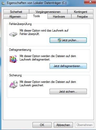 Computer beschleunigen - Defragmentierung