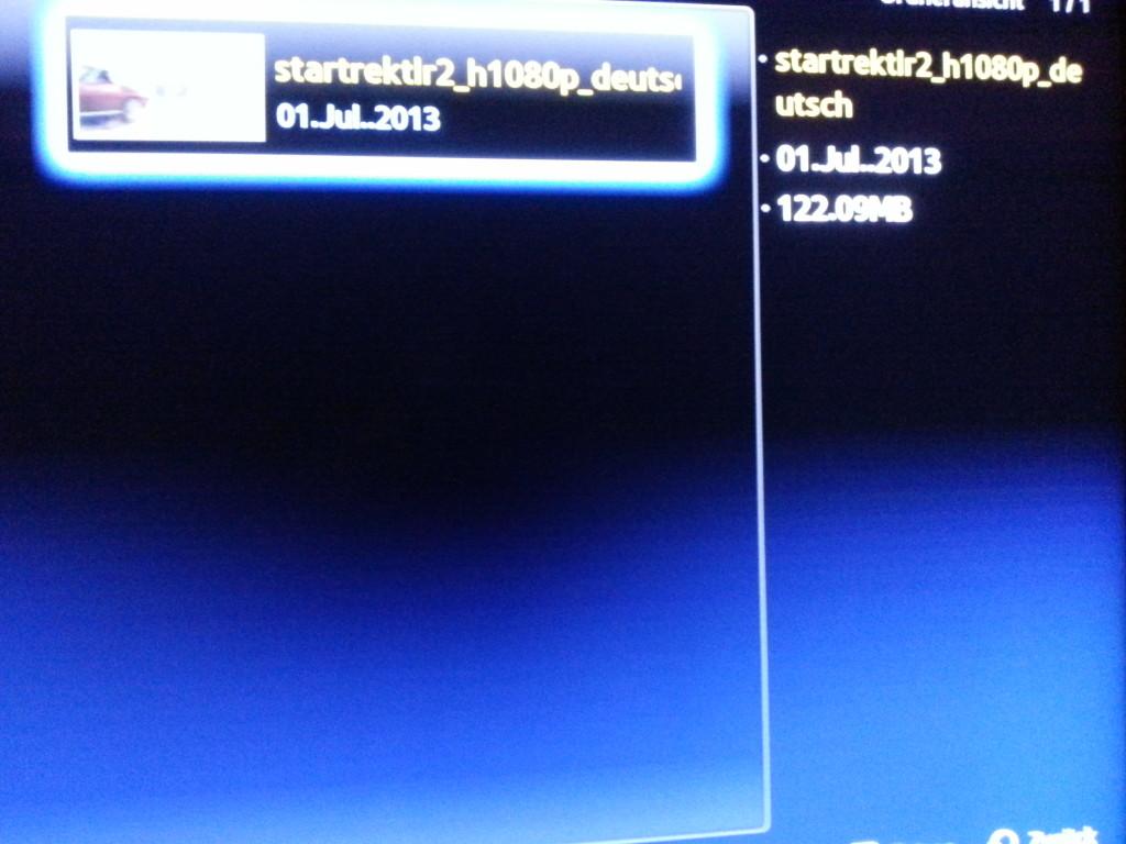 Allshare - Datei zur Wiedergabe auswählen