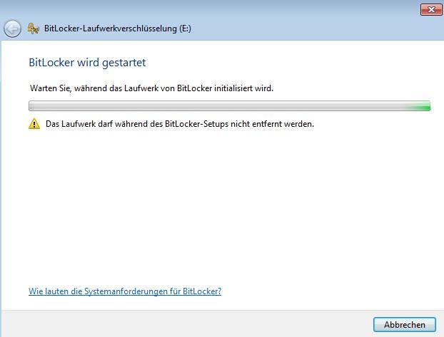 BitLocker - Startvorgang