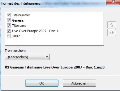 MP3 - Bezeichnung ändern