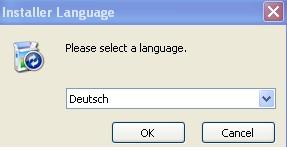 MyPhoneExplorer - Sprache auswählen