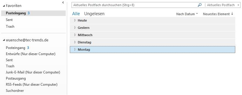 Outlook 2013 - Übersicht