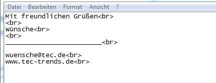 Signature Switch: Textdatei