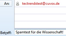 Wergwerf-EMail - Test