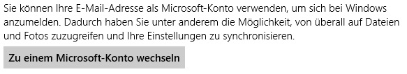 Windows 8 - Konto ändern