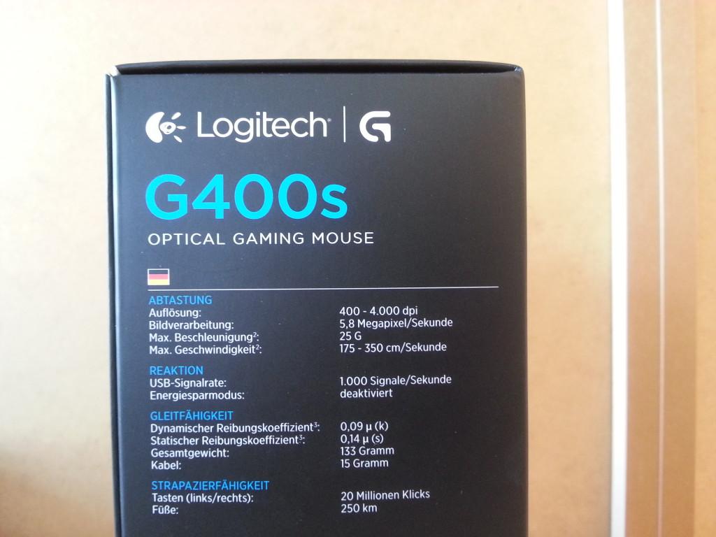 Logitech G400s | Specs