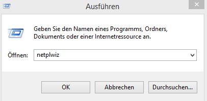 Windows 8.1 automatisch anmelden | netplwiz