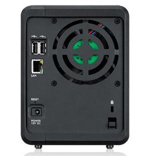 ZyXEL NSA325 v2 | neues Lüfterdesign (Rückseite)