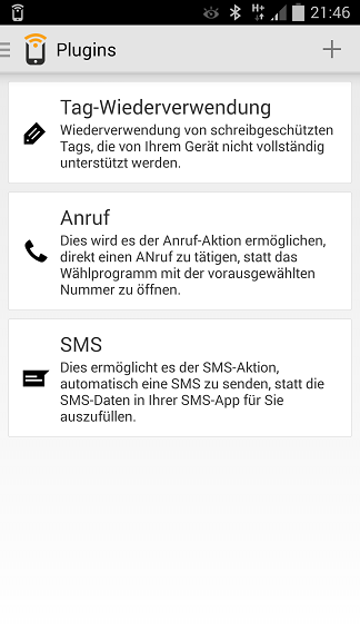 NFC-Tags - App Trigger Plugins