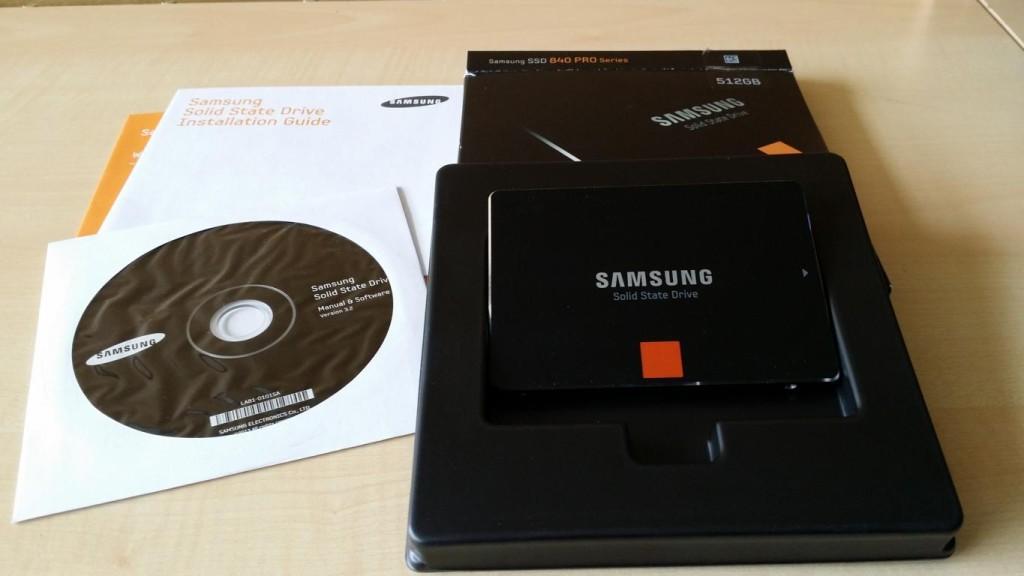 Samsung 840 Pro Series   Lieferumfang