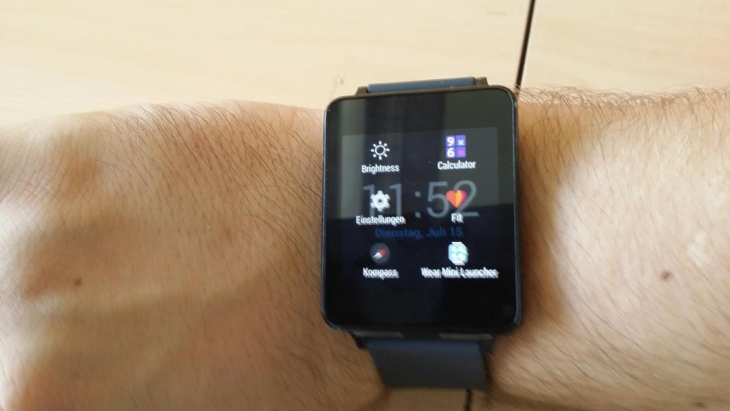 "LG G Watch | sinnvolle Apps ""Wear Mini Launcher"""