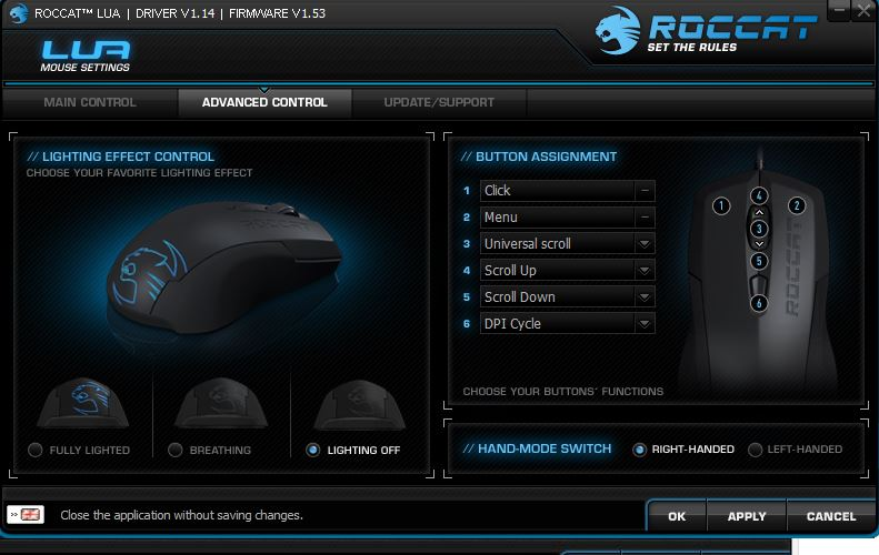 Roccat Lua | Advanced Control