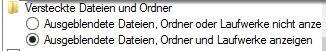 Windows 10 Schnellstartleiste einbinden | versteckte Dateien