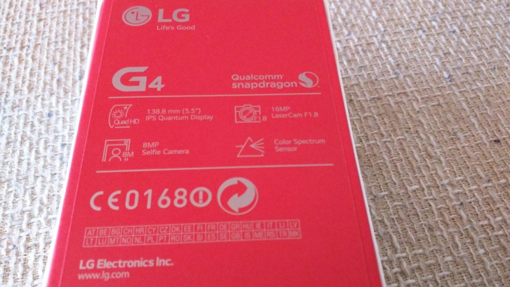 LG G4 | Verpackung Rückseite