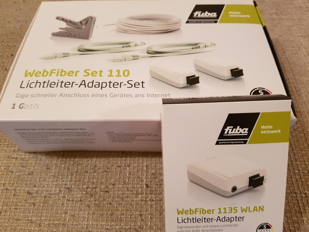 Optisches Heimnetzwerk mit Lichtleiter – Kabel – WebFiber Set im Test |
